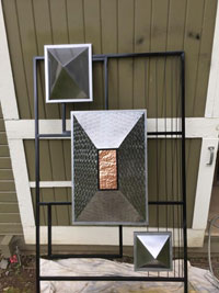 Completed decorative screen ready for site installation