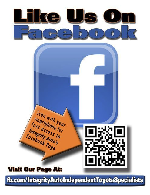 Integrity Auto Inc Facebook Signup Counter Top Display