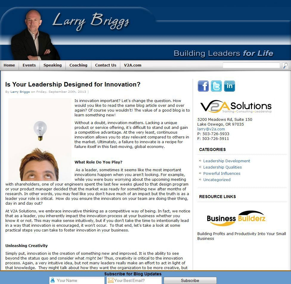 Larry Briggs Web Site